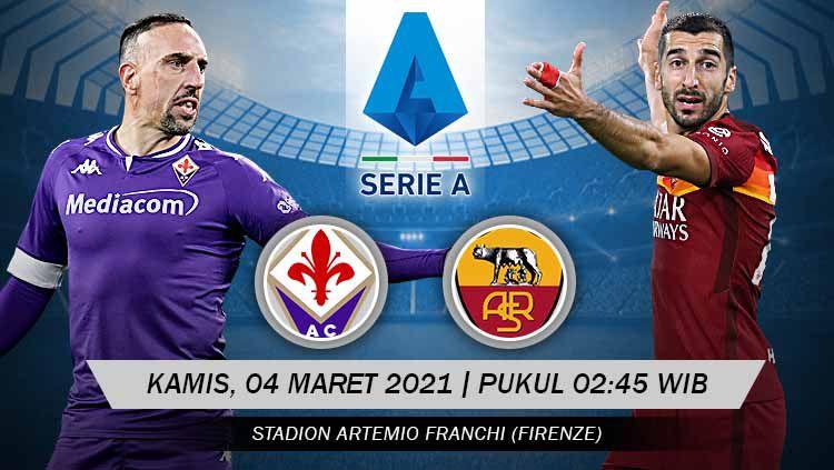 Pertandingan Fiorentina vs AS Roma (Serie A). Copyright: © Grafis:Yanto/Indosport.com