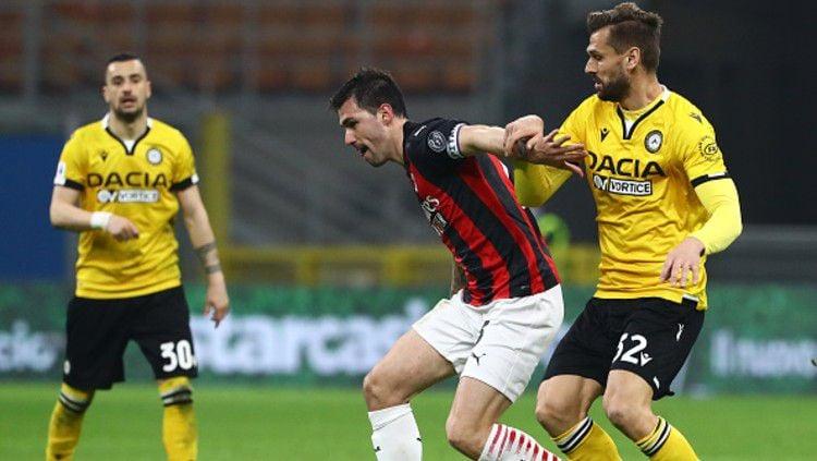 Terdapat lima pelajaran yang bisa dipetik AC Milan usai diimbangi oleh klub papan tengah Udinese, dalam lanjutan pekan ke-25 Liga Italia 2020-2021. Copyright: © (Photo by Marco Luzzani/Getty Images)