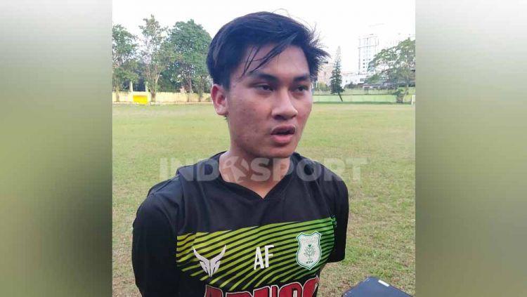 Pemain baru PSMS Medan, Rivaldo Yusuf Rangkuti, yang sempat memperkuat klub Eropa. Copyright: © Aldi Aulia Anwar/INDOSPORT
