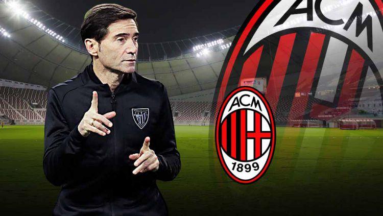 Bedah formasi menjanjikan klub Liga Italia, AC Milan, apabila dilatih oleh pelatih asal Spanyol, Marcelino Garcia Toral. Copyright: © Grafis:Yanto/Indosport.com