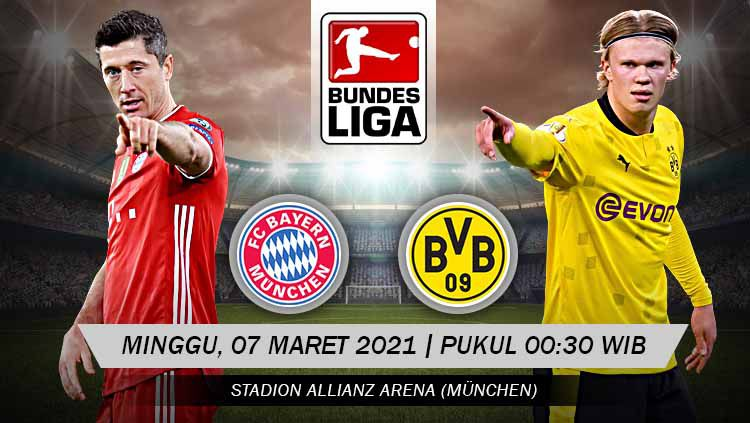 Pertandingan Bayern Munchen vs Borussia Dortmund (Bundesliga). Copyright: © Grafis:Yanto/Indosport.com