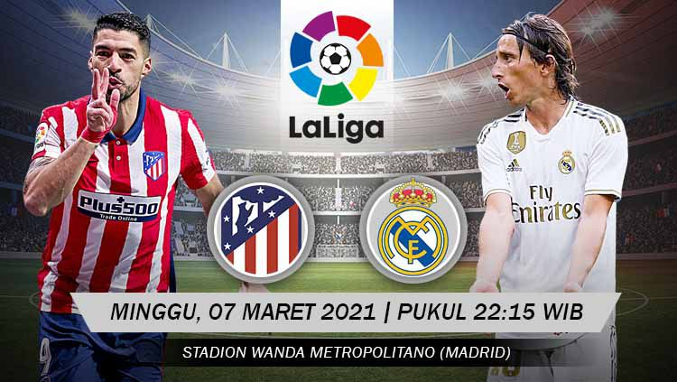 Pertandingan Atletico Madrid vs Real Madrid (LaLiga). Copyright: © Grafis:Yanto/Indosport.com
