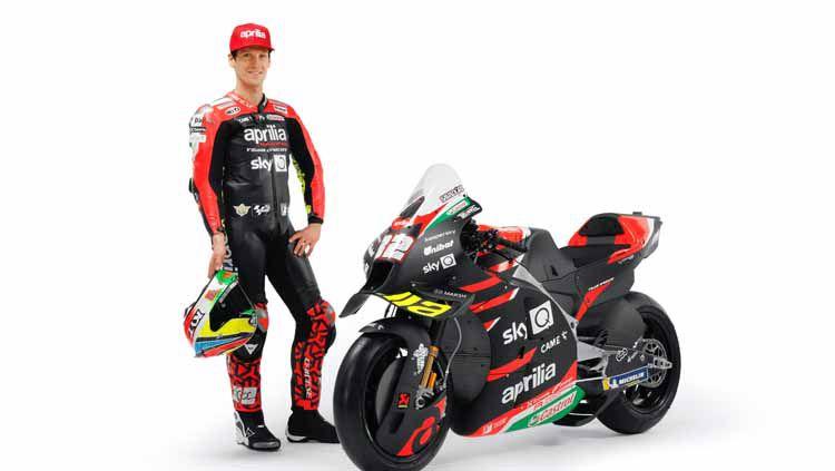 Ada nama Indonesia di motor tim Aprilia Gresini di MotoGP 2021. Copyright: © twitter.com/GresiniRacing