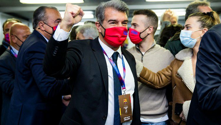 Joan Laporta terpilih sebagai presiden Barcelona. Copyright: © twitter.com/FCBarcelona_es