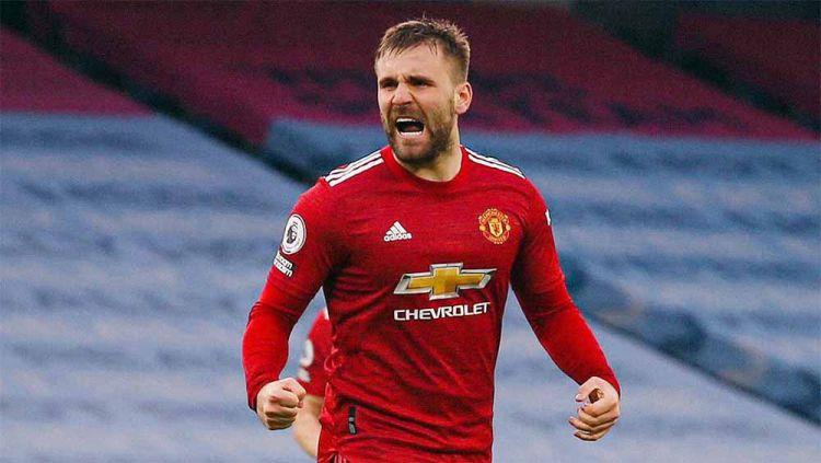 Luke Shaw, pemain Manchester united. Copyright: © Twitter@LukeShaw_MUFC