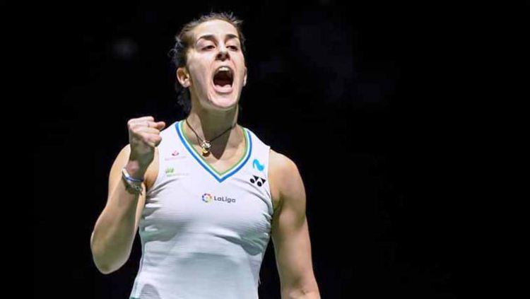Carolina Marin memutuskan mundur dari India Open 2021. Copyright: © Instagram@carolinamarin