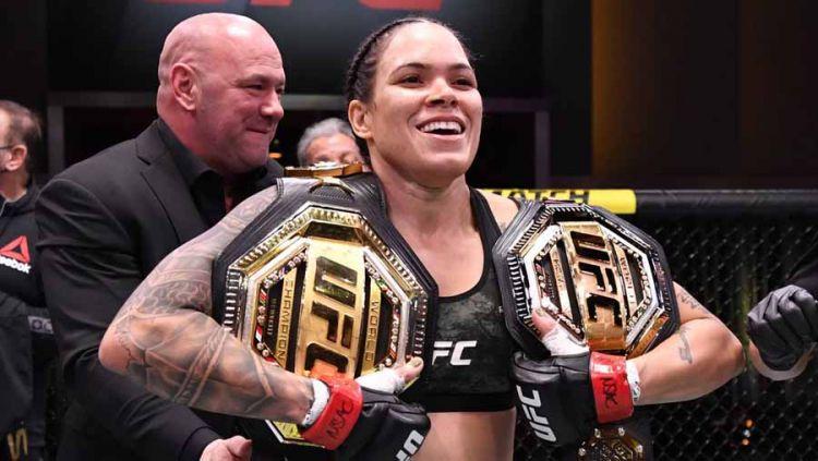 Amanda Nunes, petarung MMA asal Brasil. Copyright: © Twitter@btsportufc
