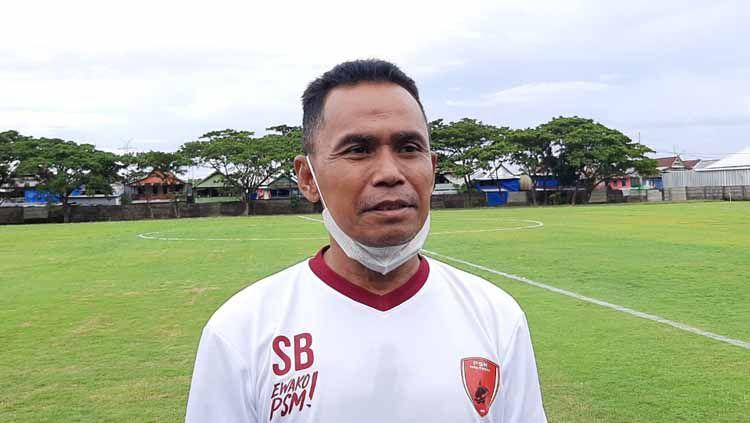 Pelatih PSM Makassar, Syamsuddin Batola, bicara soal bonus jika lolos ke final Piala Menpora 2021. Copyright: © Adriyan Adirizky/INDOSPORT