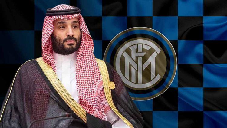 Setelah sukses menjadi pemilik saham mayoritas Newcastle United, Public Investment Fund (PIF) milik Arab Saudi dikabarkan segera mengakuisisi Inter Milan. Copyright: © Grafis:Yanto/Indosport.com