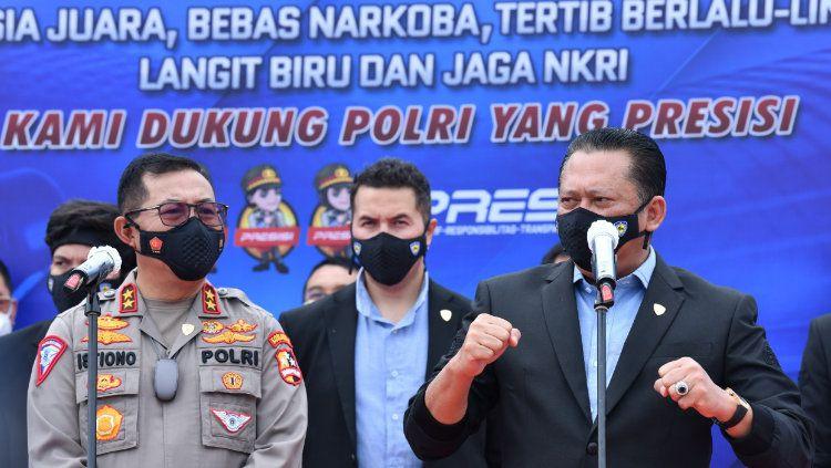 Ikatan Motor Indonesia (IMI) menggandeng Korps Lalu Lintas (Korlantas) Polri terkait pengelolaan ISDC (Indonesia Safety Driving Center). Copyright: © Dok. IMI