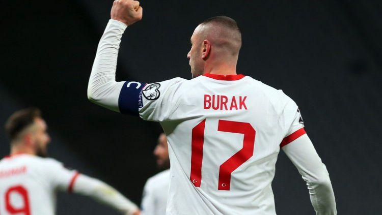 Burak Yilmaz di laga Turki vs Belanda Copyright: © Twitter @MilliTakimlar