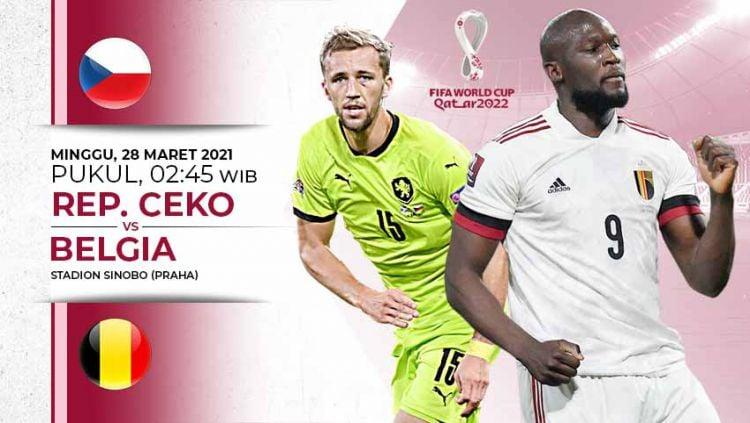 Berikut link live streaming pertandingan Kualifikasi Piala Dunia 2022 Grup E yang akan mempertemukan Republik Ceko vs Belgia. Copyright: © Grafis:Yanto/Indosport.com