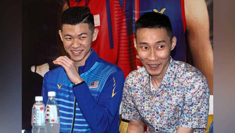 Pebulutangkis asal Malaysia Lee Zii Jia dan Lee chong Wei. Copyright: © thestar