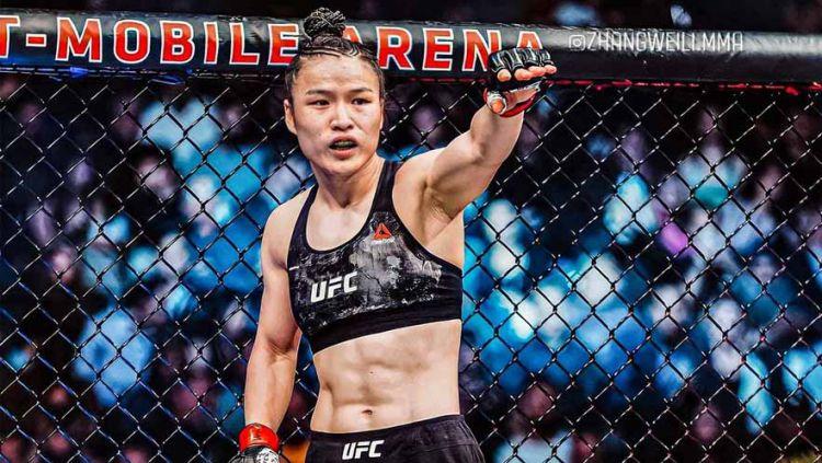 Zhang Weili, petarung wanita juara kelas jerami UFC. Copyright: © Instagram@#zhangweili