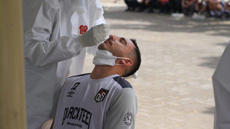 Penerapan protokol kesehatan di Liga Futsal Profesional 2020. Copyright: © Liga Futsal Profesional