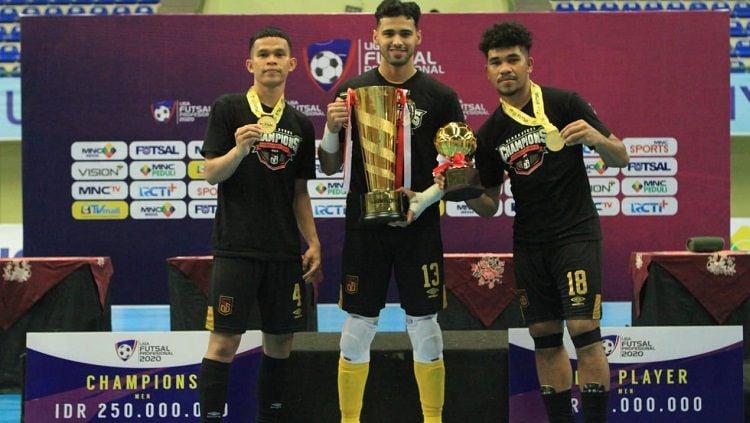 Black Steel Manokwari menjuarai Liga Futsal Profesional (LFP) 2020 usai mengalahkan SKN FC Kebumen dengan skor telak 6-2, Minggu (28/3/21). Copyright: © Liga Futsal Profesional