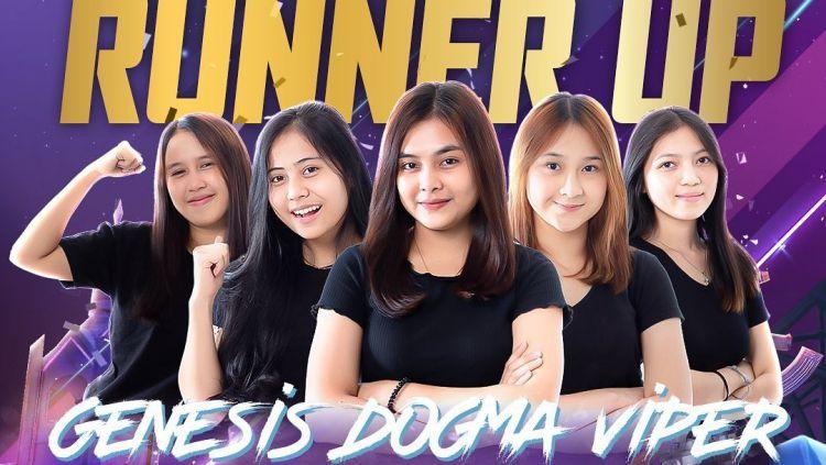 Genesis Dogma Viper, runner-up PMPL Ladies ID S3. Copyright: © @pubgmobile.esports.id/INSTAGRAM