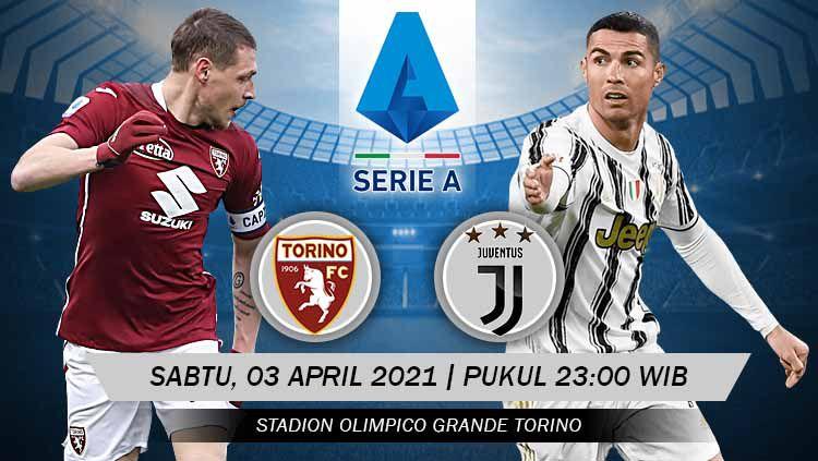 Pertandingan Torino vs Juventus (Serie A). Copyright: © Grafis:Yanto/Indosport.com