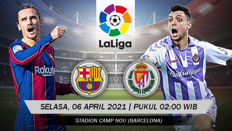 Pertandingan Barcelona vs Real Valladolid (LaLiga). Copyright: © Grafis:Yanto/Indosport.com