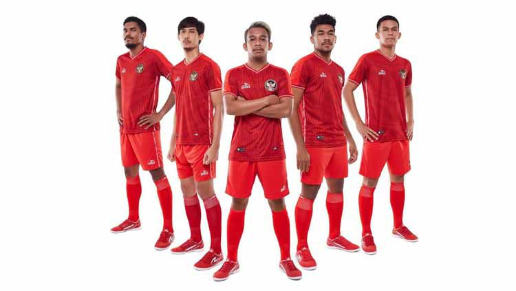 Official Jersey Home untuk Tim Nasional Futsal Indonesia Copyright: © specs_indonesia