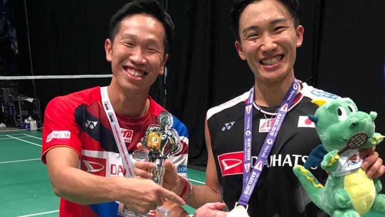 Bintang tunggal putra Malaysia, Lee Zii Jia menanggapi pujian yang diberikan oleh pelatih Jepang, Yosuke Nakanishi selepas berhasil mengalahkan Kento Momota. Copyright: © instagram/@YosukeNakanishi