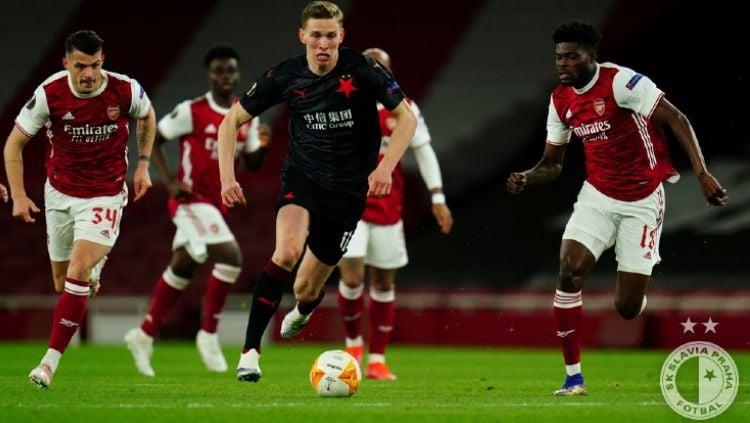 Hasil Pertandingan Liga Europa Arsenal vs Slavia Praha Copyright: © https://twitter.com/slaviaofficial/