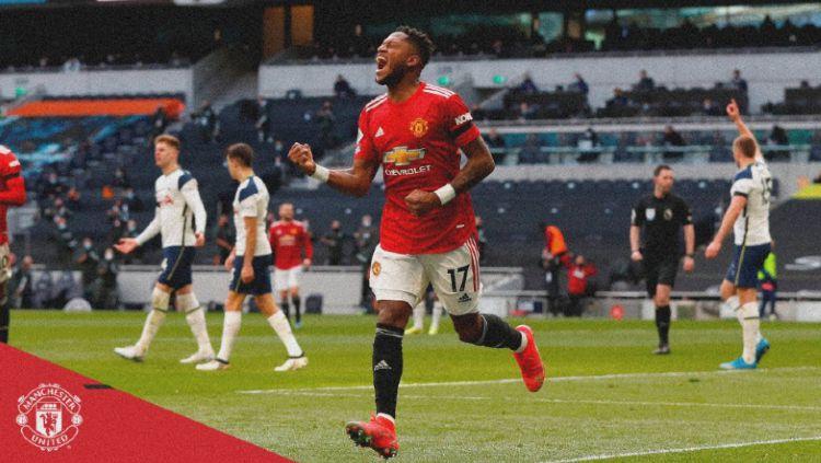Manchester United berhasil meraih kemenangan telak 1-3 dalam lawatan mereka ke kandang Tottenham Hotspur pada laga lanjutan Liga Inggris pekan ke-31. Copyright: © https://twitter.com/ManUtd/