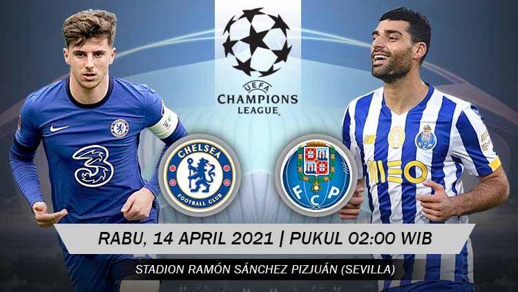 Pertandingan Chelsea vs Porto (Liga Champions). Copyright: © Grafis:Yanto/Indosport.com