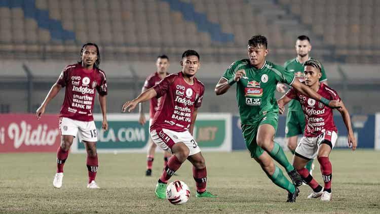Laga PSS Sleman vs Bali United di babak 8 besar Piala Menpora 2021 di Stadion Maguwoharjo Sleman. Copyright: © Official PSS Sleman