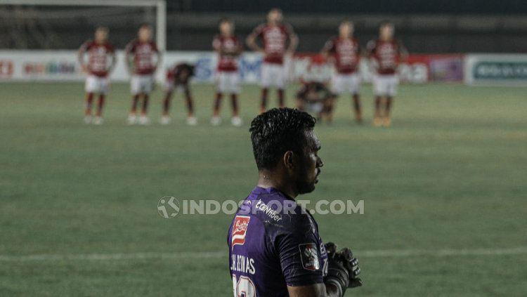 Bali United kalah dalam drama adu penalti dari PSS Sleman pada babak 8 besar Piala Menpora 2021. Copyright: © Nofik Lukman/INDOSPORT