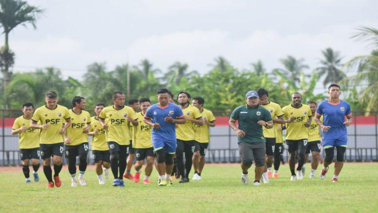 Skuat Muba Babel United yang sudah mulai menjalani latihan perdana. Copyright: © Muba Babel United.