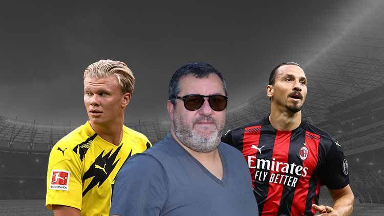Dikenal sebagai salah satu agen pemain terbesar, berikut ini starting XI mengerikan pemain yang diageni Mino Raiola, termasuk duet Haaland dan Ibrahimovic. Copyright: © Grafis:Frmn/Indosport.com
