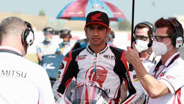 Andi Gilang pembalap Honda Team Asia di Moto3 asal Indonesia. Copyright: © Instagram@27_andigilang