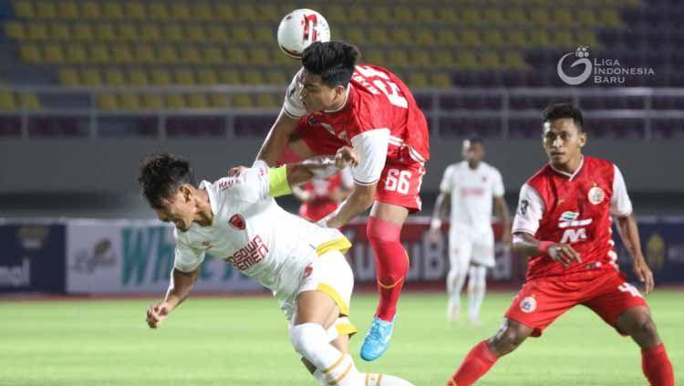 Pertandingan leg 2 semifinal Piala Menpora antara Persija Jakarta vs PSM Makassar di Stadion Manahan Solo, Minggu (18/04/21). Copyright: © PT LIB