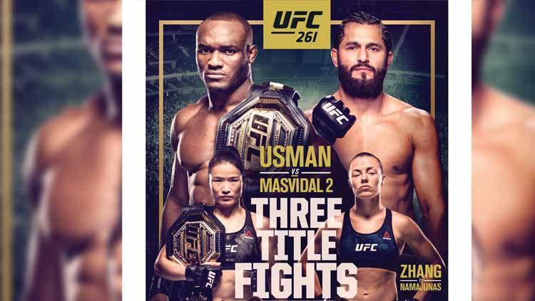 Perebutan tiga gelar juara termasuk duel antara Kamaru Usman vs Jorge Masvidal tersaji di UFC 261 Copyright: © UFC