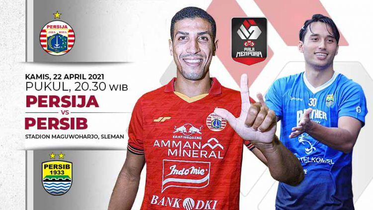Pertandingan Persija Jakarta vs Persib Bandung (Piala Menpora 2021). Copyright: © Grafis:Yanto/Indosport.com
