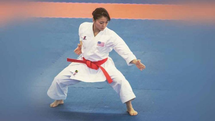 Sakura Kokumai, atlet karate Amerika Serikat. Copyright: © Instagram@sakurakokumaikarate