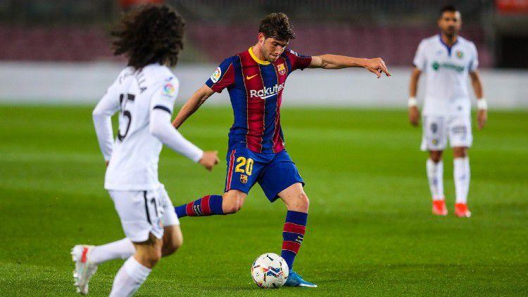 Klasemen sementara LaLiga Spanyol musim ini hingga Jumat (23/04/21). Copyright: © twitter.com/FCBarcelona