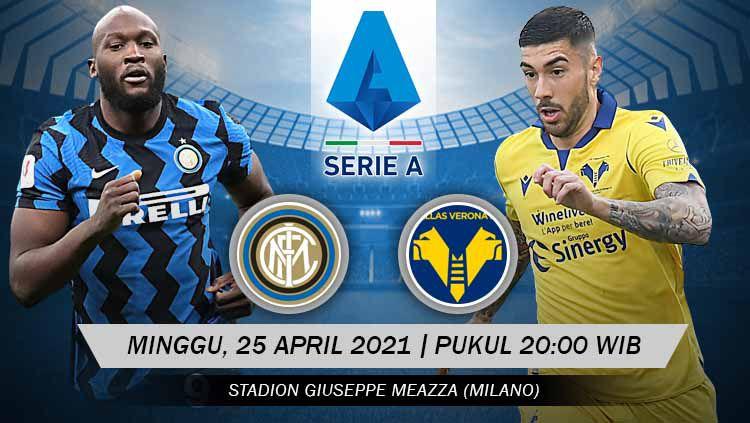 Berikut link live streaming pertandingan lanjutan Serie A Italia giornata ke-33 antara Inter Milan vs Hellas Verona. Copyright: © Grafis:Yanto/Indosport.com