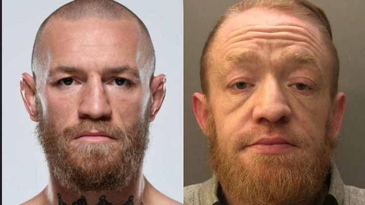 Mark Nye (kanan), Penipu sekaligus pengedar narkoba yang menyamar sebagai Conor McGregor Copyright: © Sportskeeda
