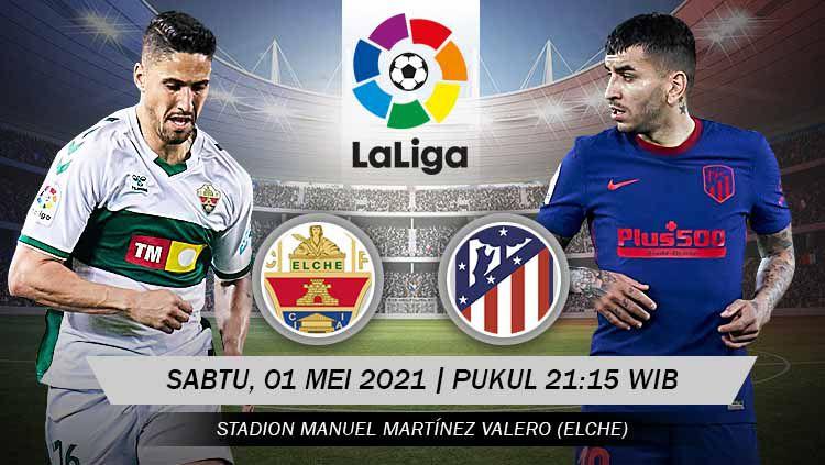 Berikut prediksi pertandingan LaLiga Spanyol antara Elche vs Atletico Madrid. Copyright: © Grafis:Yanto/Indosport.com