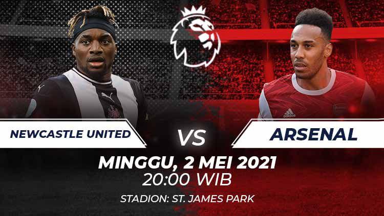Berikut link live streaming pertandingan lanjutan Liga Inggris pekan ke-34 antara Newcastle United vs Arsenal. Copyright: © Grafis:Frmn/Indosport.com