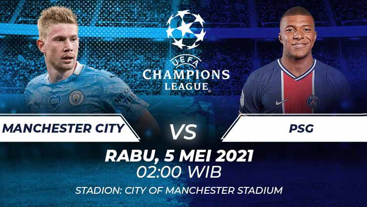 Manchester City vs PSG Copyright: © Grafis:Frmn/Indosport.com