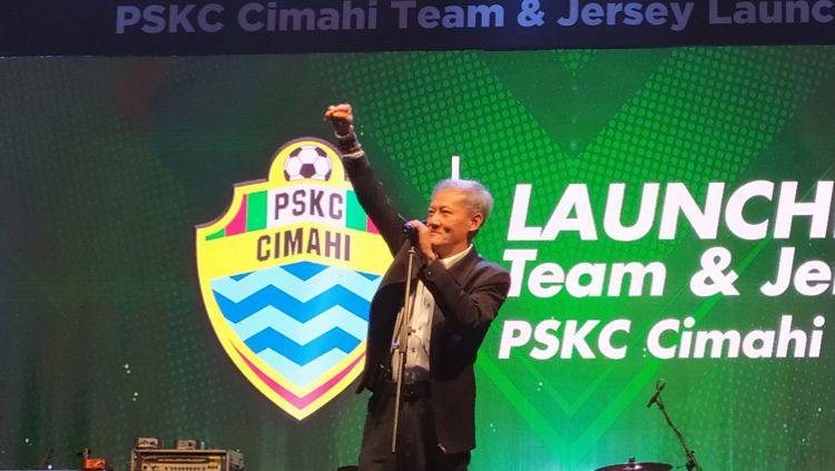 Komisaris Utama tim sepak bola PSKC Cimahi, Eddy Moelyo. Copyright: © Arif Rahman/INDOSPORT