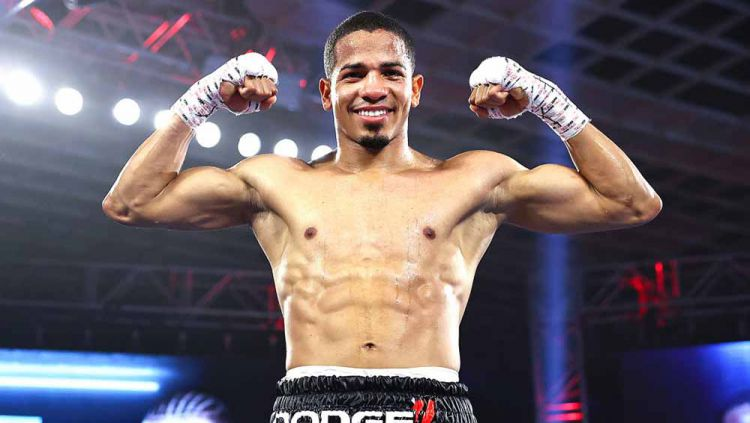 Felix Verdejo, petinju asal Puerto Rico. Copyright: © Mikey Williams/Top Rank via Getty Images