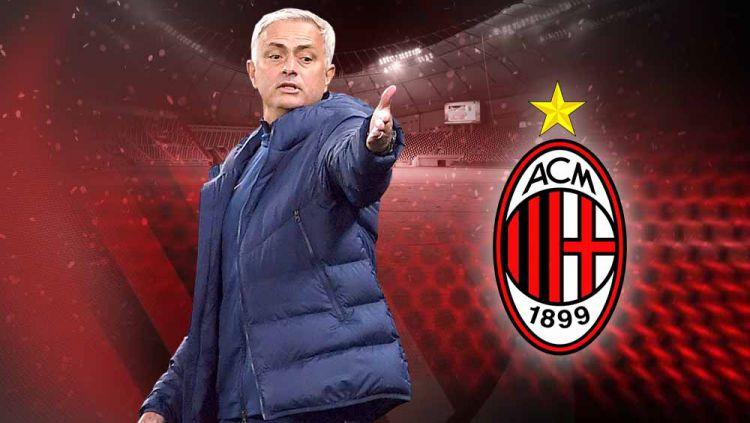 Jose Mourinho dikaitkan dengan AC Milan. Copyright: © Grafis:Yanto/Indosport.com