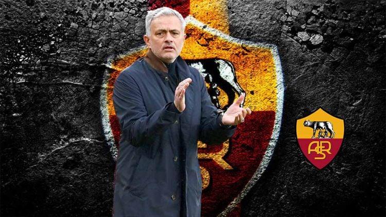 Jose Mourinho resmi jadi pelatih AS Roma terhitung musim depan. Copyright: © Grafis:Yanto/Indosport.com
