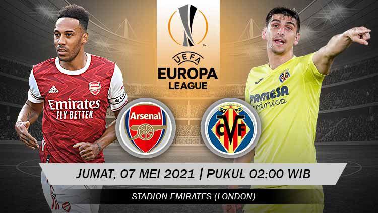 Prediksi pertandingan leg kedua semifinal Liga Europa musim 2020-2021 antara tuan rumah Arsenal vs Villarreal. Copyright: © Grafis:Yanto/Indosport.com
