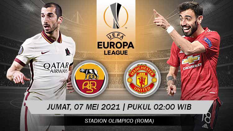 Pertandingan AS Roma vs Manchester United (Liga Europa). Copyright: © Grafis:Yanto/Indosport.com