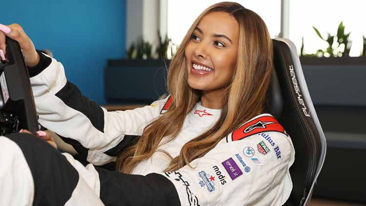 Presenter TV, Maya Jama. Copyright: © David M. Benett/Dave Benett/Getty Images for Formula E